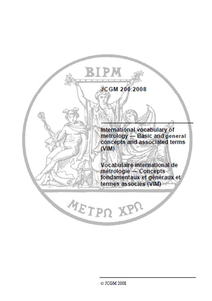 diccionario internacional de metrologia