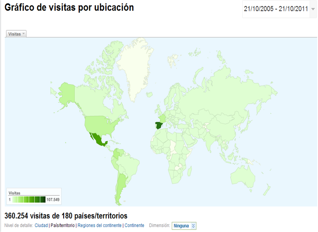 mapa de visitas MeasureControl
